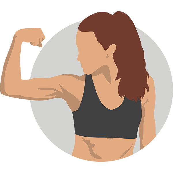 vrouw sport