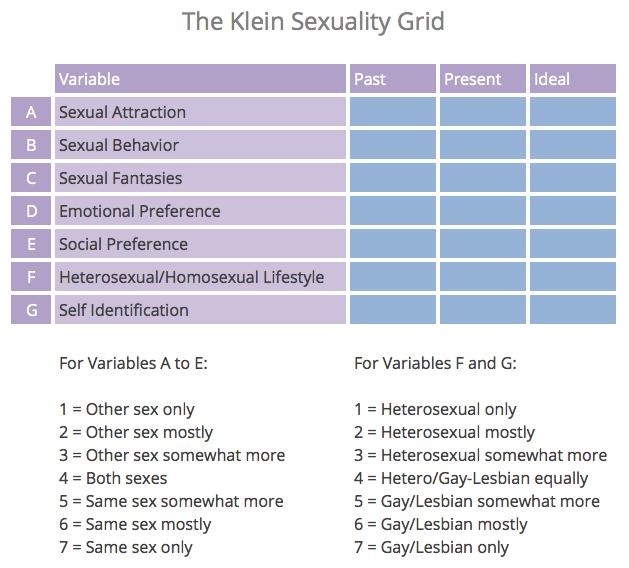 klein sexuality grid