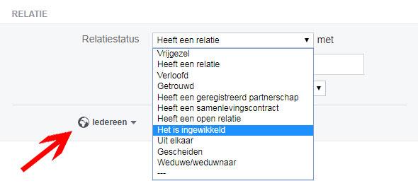 facebook relatie wijzigen