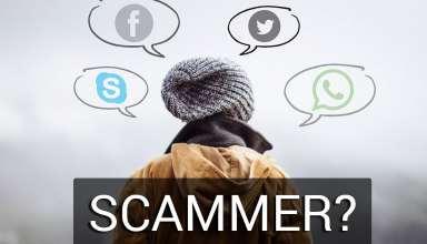 social media scammer