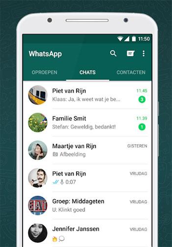 whatsapp contacten