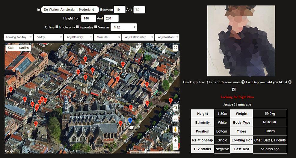 locatie grindr amsterdam