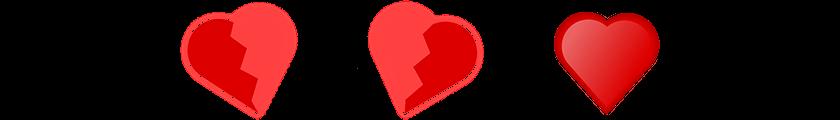 hart gebroken divider