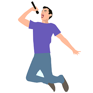 zingen man stem