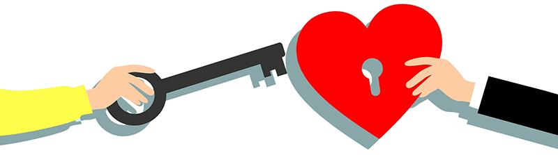 hart sleutel divider