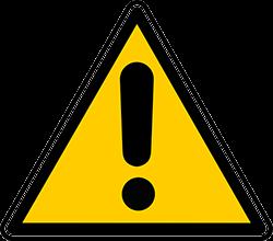 waarschuwing teken