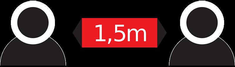 social distancing 1.5m