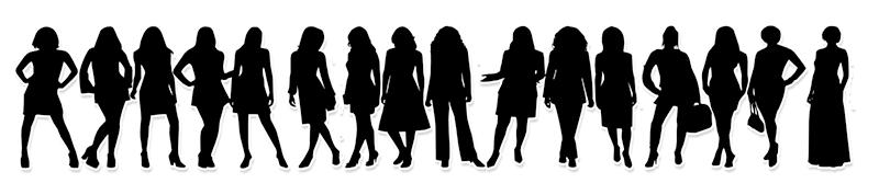 vrouwen rij