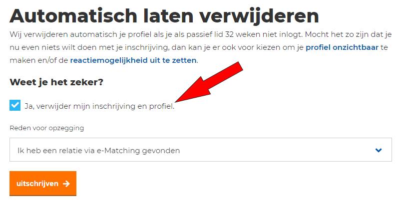 verwijderen e-matching