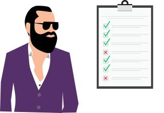 man checklist